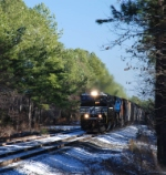 NS 349 at Funston in the snow